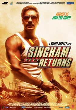 Singham Returns (2014) Hindi Movie Free Download HD 480p 250MB