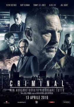 CRIMINAL (2016) Hindi Dubbed DVDScr 720p