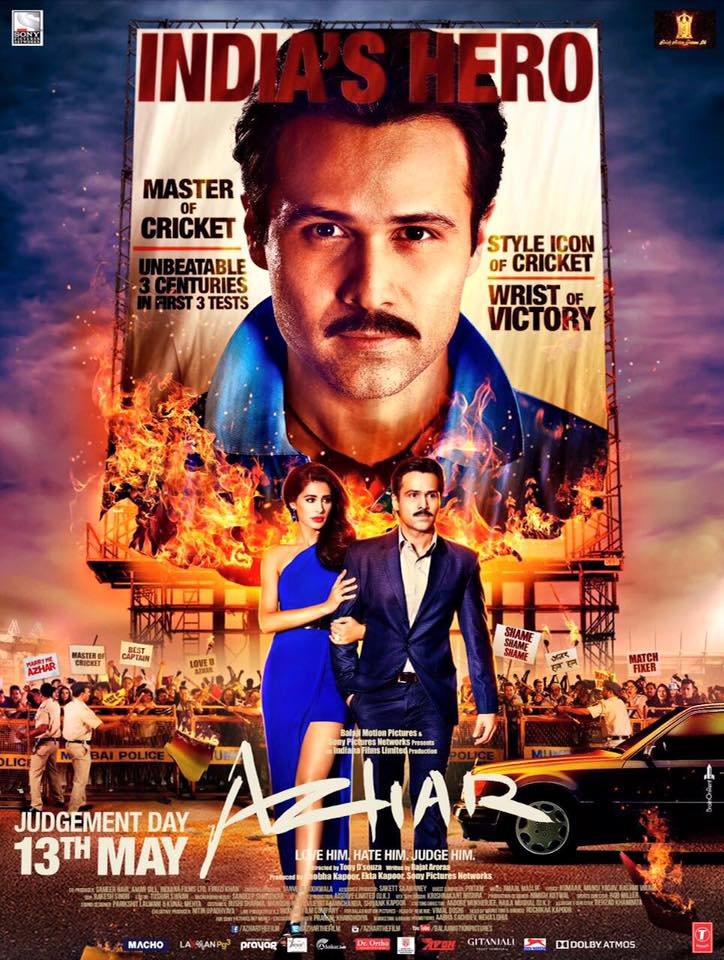 Azhar (2016) Hindi DvDRip XviD ESub 450MB