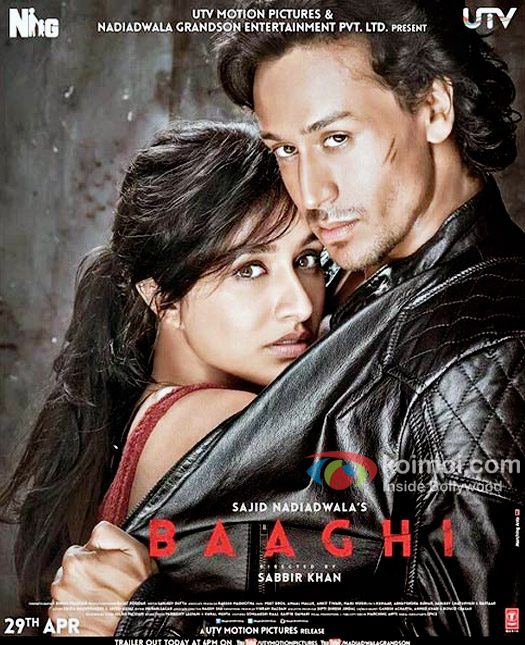 Baaghi (2016) Hindi Movie 1CD DvDRip XviD ESub 350MB